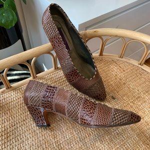 🎉5/20 SALE🎉Vintage Phyllis Poland Snakeskin Heel